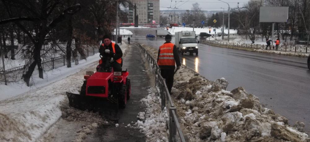 Зимнее содержание путепровода на проспект Победы г. Пенза