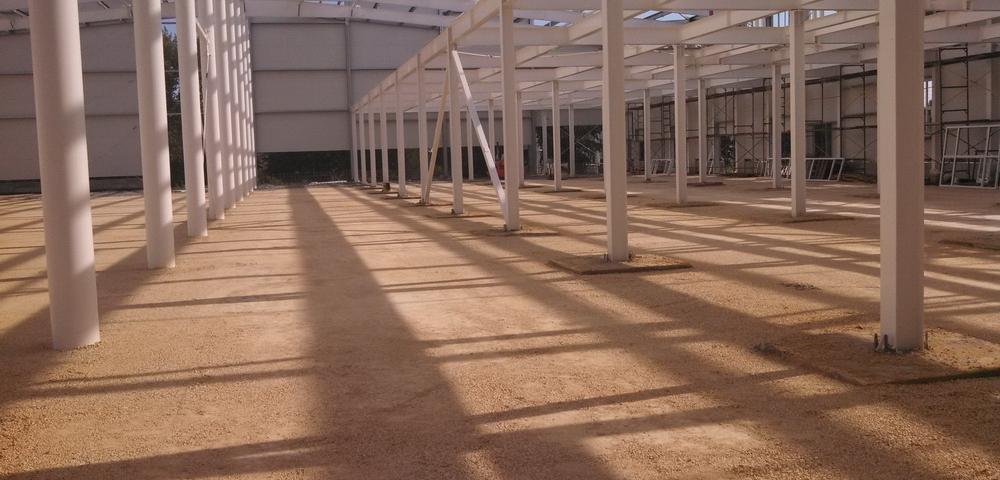 Строительные работы в цехе в п. Ухтинка